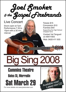 The Big Sing concert poster
